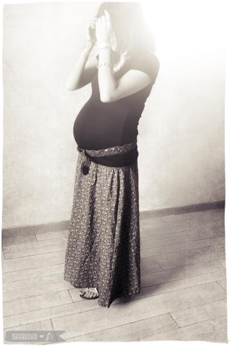 h&m jupe longue liberty fleuri grossesse enceinte look