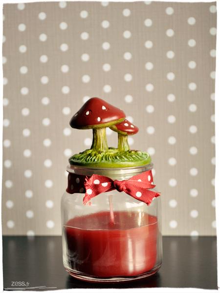 bougie pot champignon