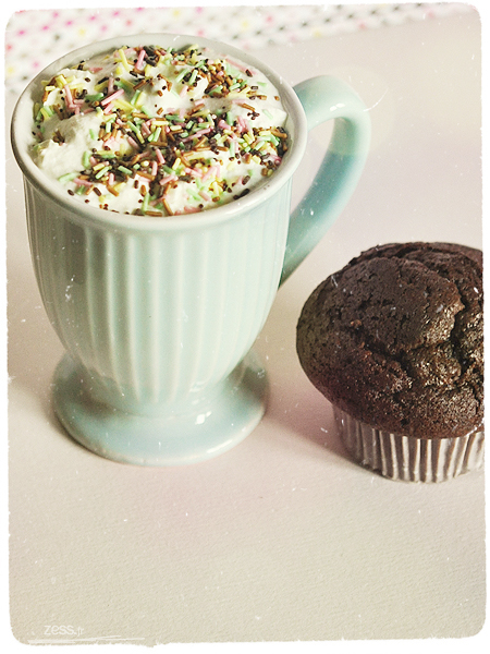 chocolat chaud muffin