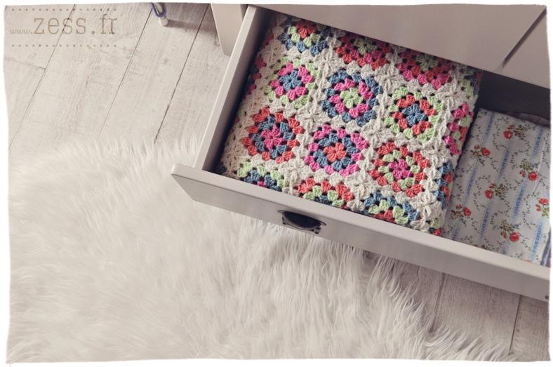crochet plaid granny square zig zag chevron guirlande