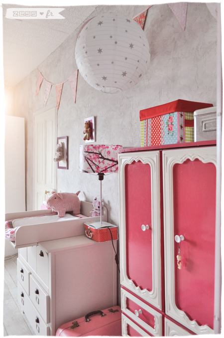 La chambre de lily rose le coin langer ranger zess for Vertbaudet chambre bebe