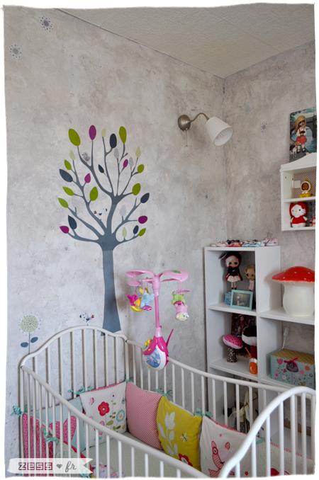 chambre bébé fille rétro vintage vertbaudet ikea liberty