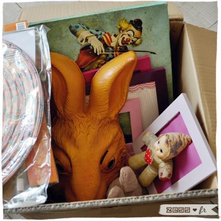 décoration chambre bébé fille vintage rétro cadre lapin clown
