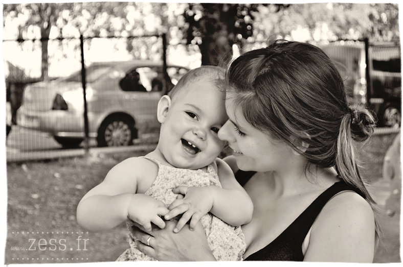 photographie bébé et maman