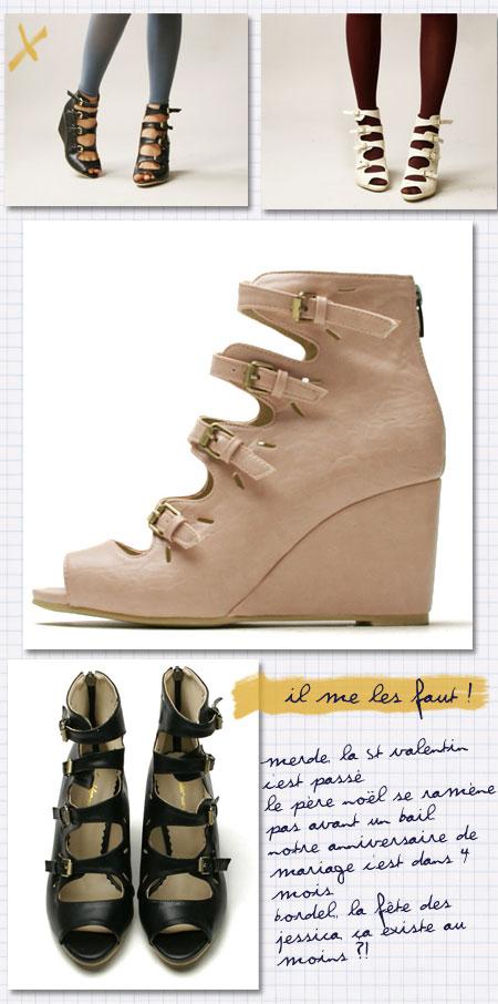 sandales compensées multi brides yesstyle