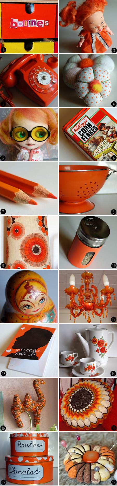 mosaique orange