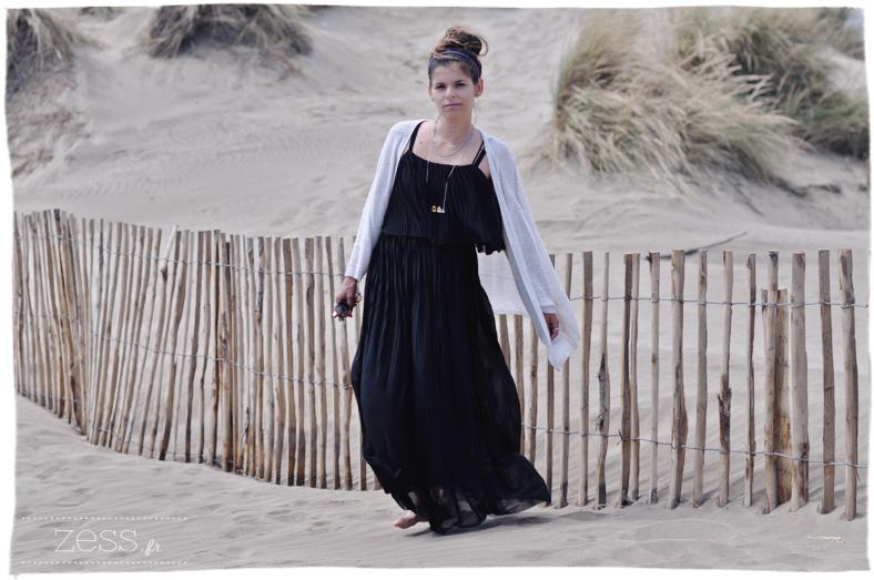 jupe longue noir gaze mango look maman blog