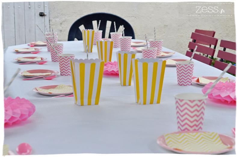 anniversaire enfant fille 3ans sweet table déco table