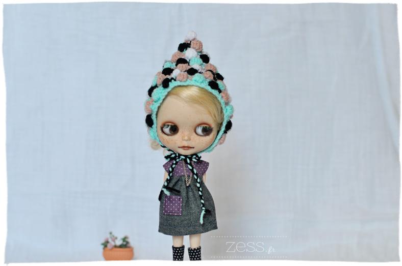 blythe hat bonnet crochet poupée