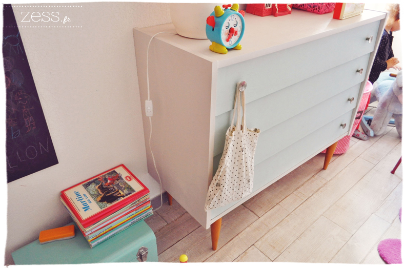 commode vintage 50's diy