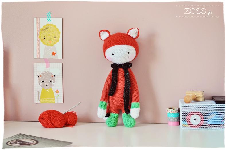 lalylala fibie fox doudou crochet diy pattern