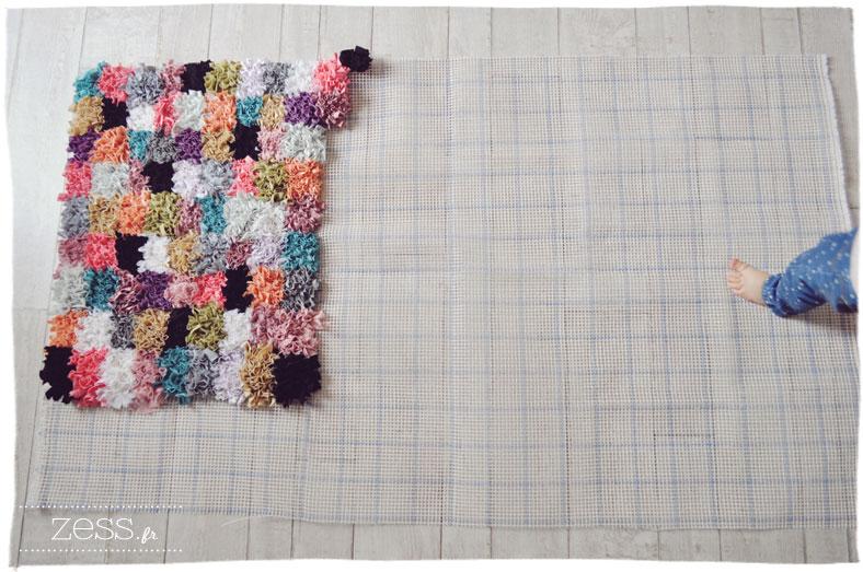 DIY / tuto : le tapis boucherouite au