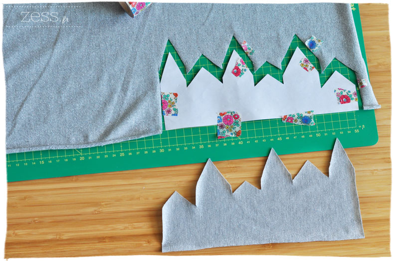 tuto diy top tee shirt applique village