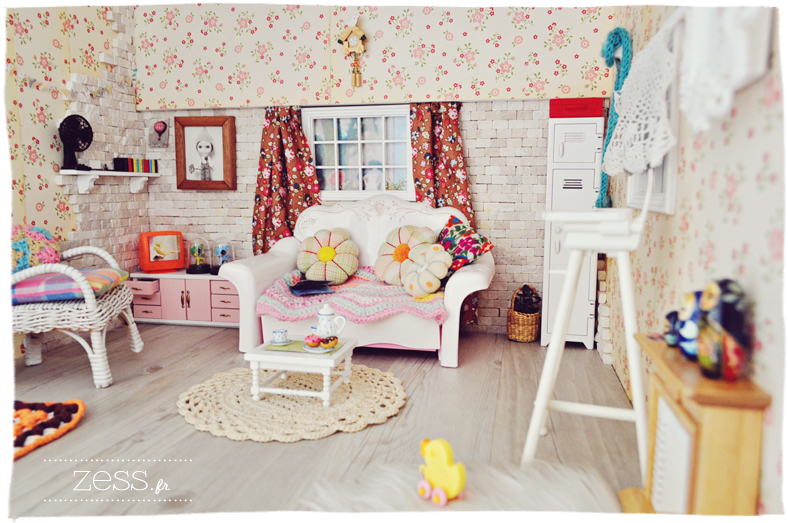 blythe pullip hujoo dollhouse living room salon