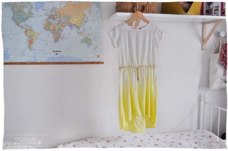 jaune photo objet vintage coussin chevron poupée robe tie and dye