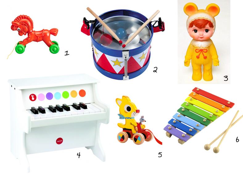 jouets rétro vintage séléction shopping djeco roulette piano