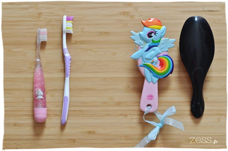 brosse à dent enfant maman brosse à cheveux petit poney h&m