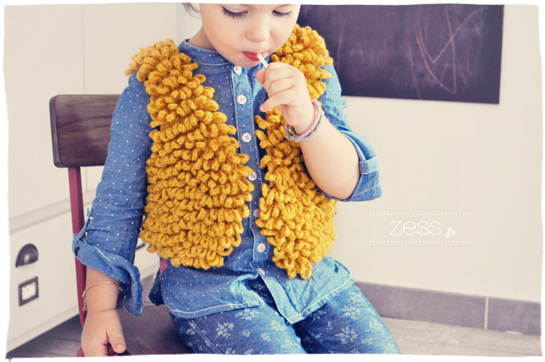 phildar gilet enfant fourrure crochet catalogue