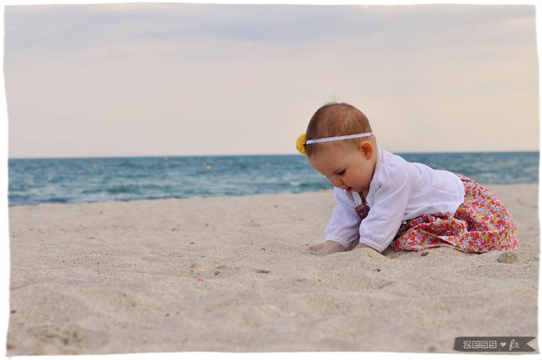 photographie bébé plage zess