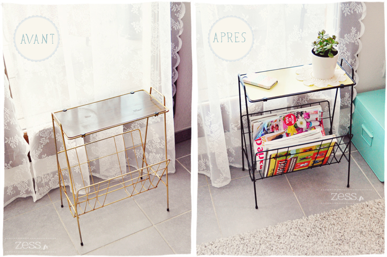 diy le porte revues vintage avant apr s lifestyle mode d co maman diy. Black Bedroom Furniture Sets. Home Design Ideas