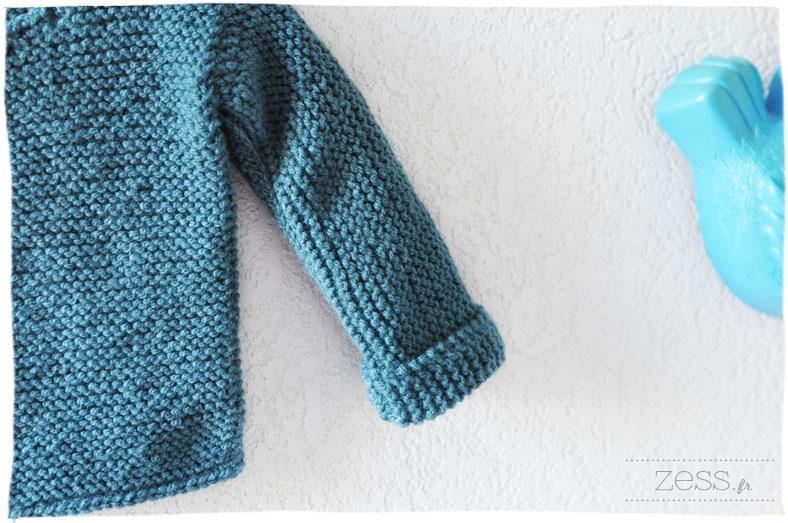 pull tricot bébé naissance diy