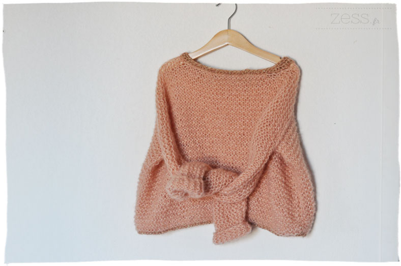 pull tricot enfant loose diy