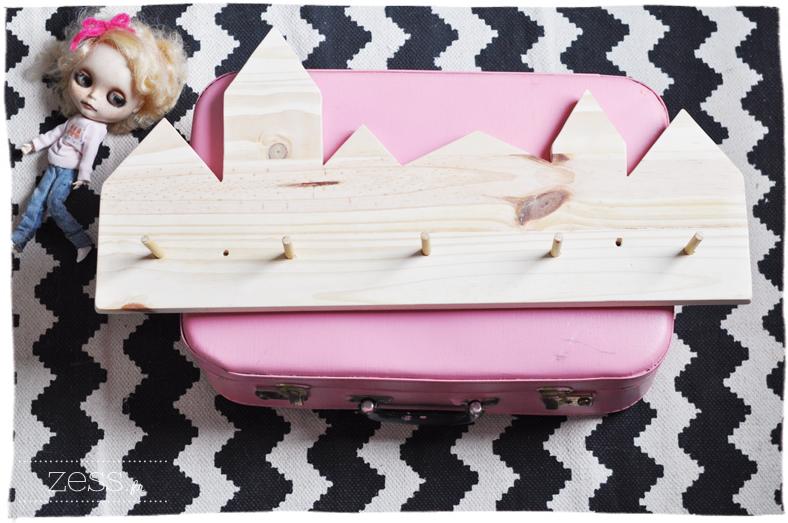patère handmade bois diy