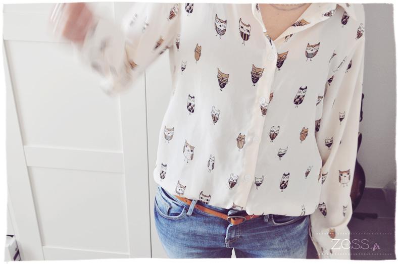 chemise hiboux