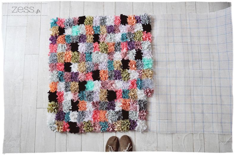 tapis boucherouite boucharouette diy tuto handmade