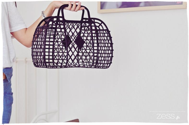 H&M panier basket plastique vintage