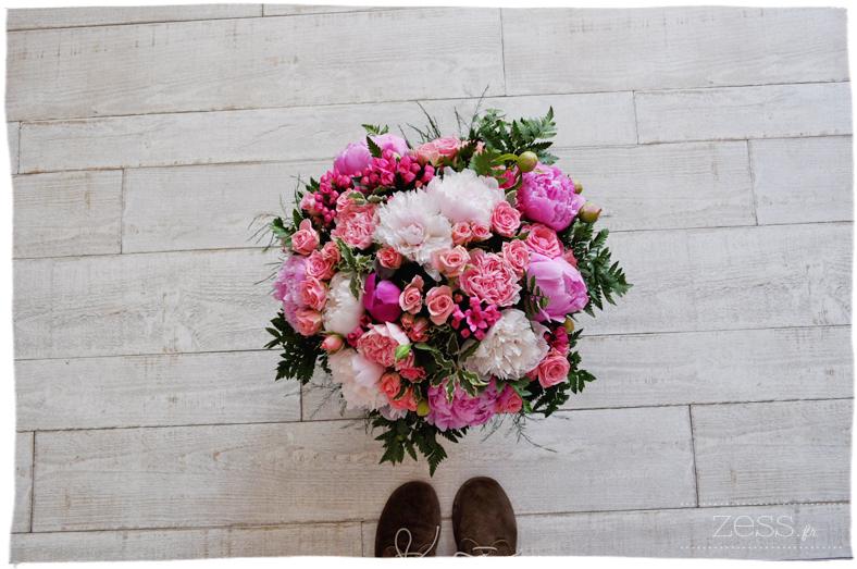 bouquet interflora pivoine rose