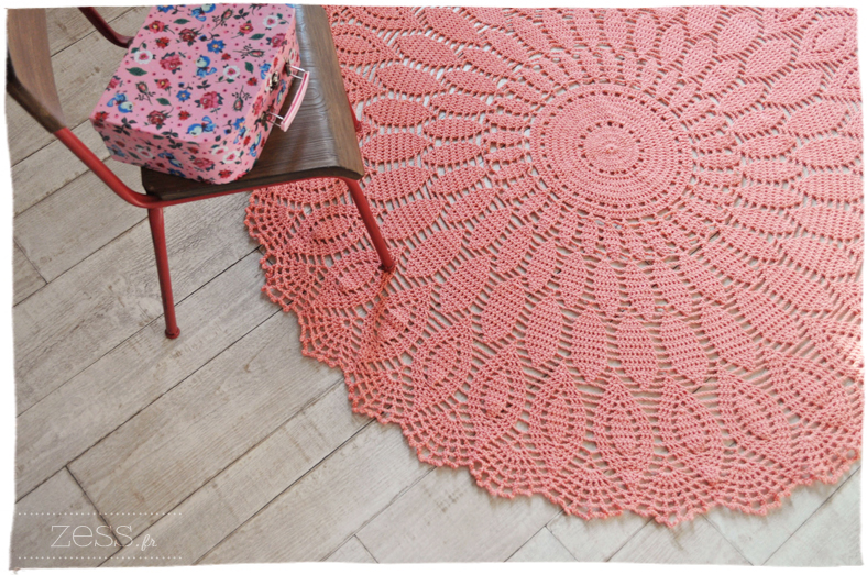 diy le tapis au crochet proposition commandes zess. Black Bedroom Furniture Sets. Home Design Ideas