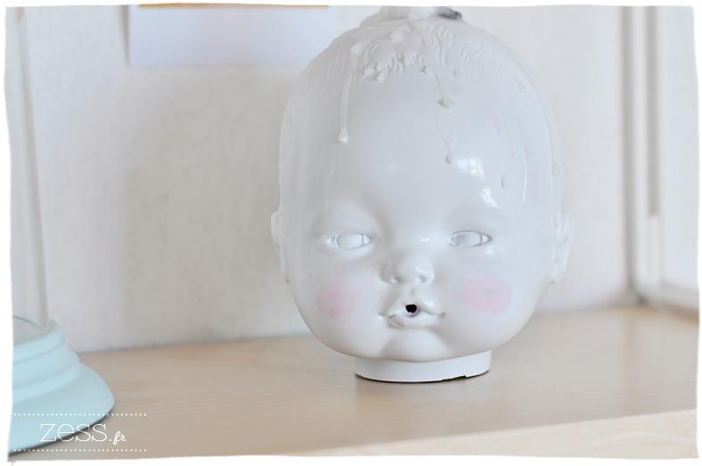 tuto bougeoir tête de poupée porcelaine little joseph