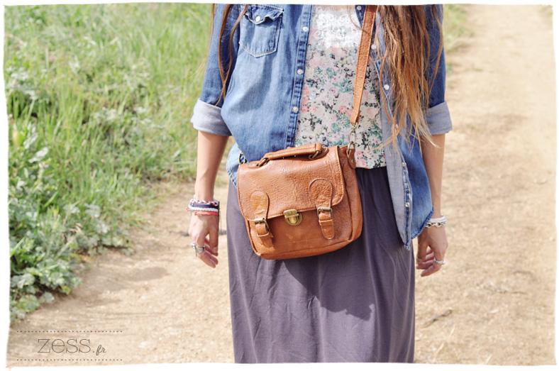 photo look mama enfant blog maternité jean jupe longue