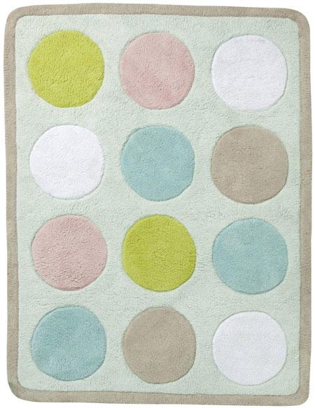 sélection shopping vertbaudet chambre bébé tapis pois ronds pastel