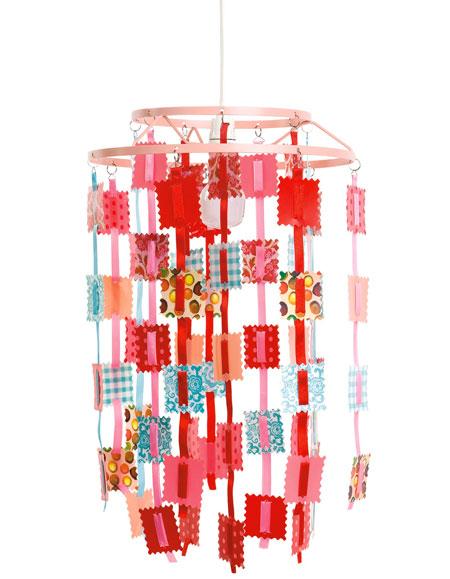 sélection shopping vertbaudet chambre bébé abat jour suspension rétro coloré