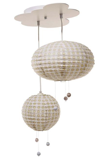 sélection shopping vertbaudet chambre bébé suspension abat jour plafonnier nuage lampion