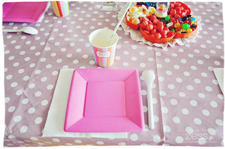 anniversaire enfant fille sweet table