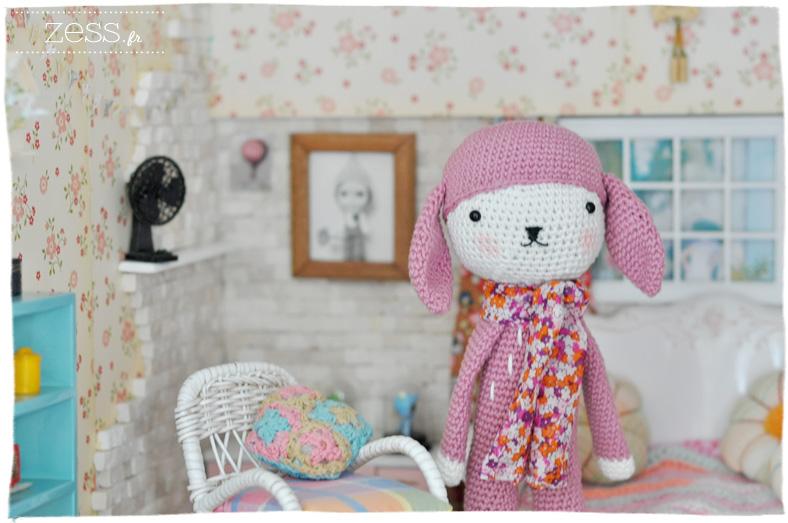 framboise doudou crochet tournicote tendre crochet dollhouse blythe poupée miniature