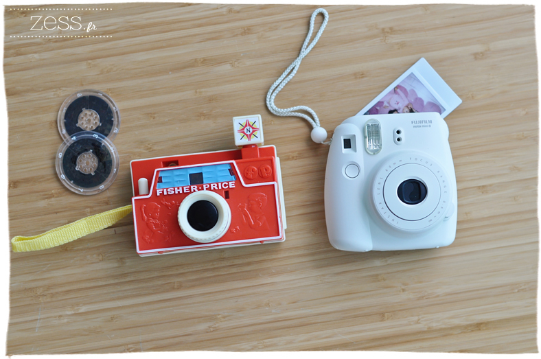 appareil photo fisher price vintage réédition instax mini 8 blanc