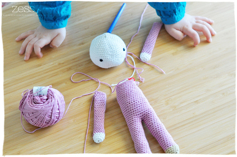doudou crochet tournite tendre crochet