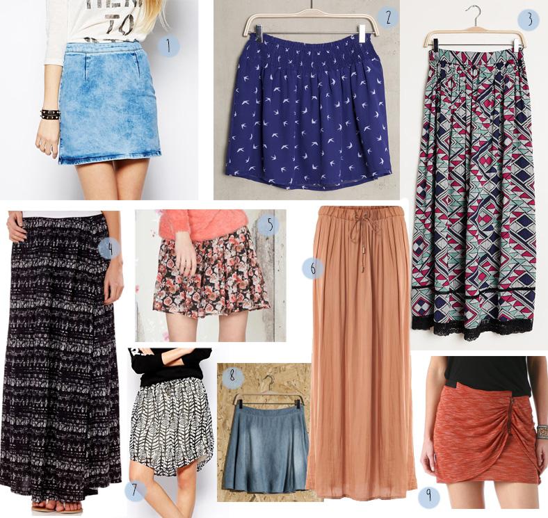 sélection shopping jupe jupe longue imprimé liberty fleuri ikat denim