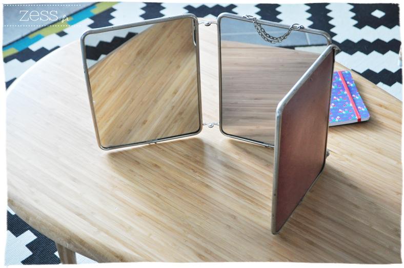 trouvailles vide grenier chinerie chine miroir triptyque