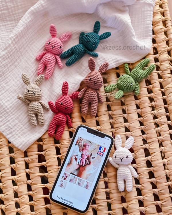 tuto mini lapin crochet patron