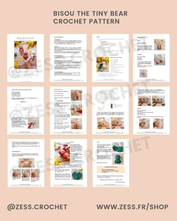 previeux pdf pattern crochet bisou bear ours