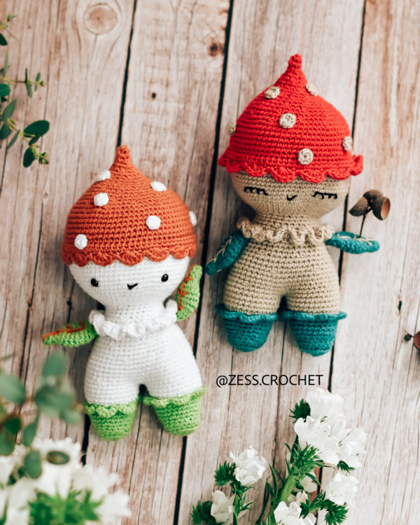 tuto crochet patron champignon doudou