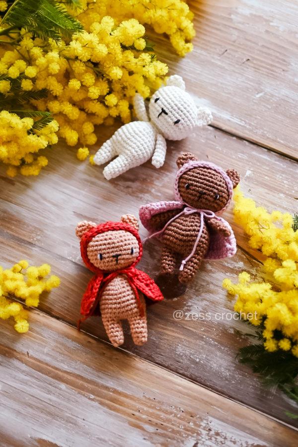tuto mini ours crochet