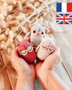 patron crochet hiboux